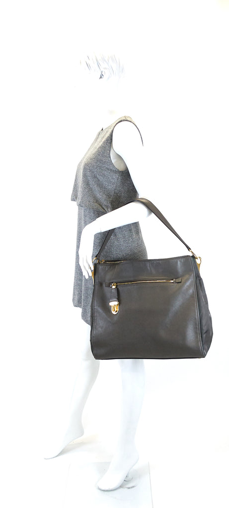 Saffiano Leather and Nylon Tote Bag