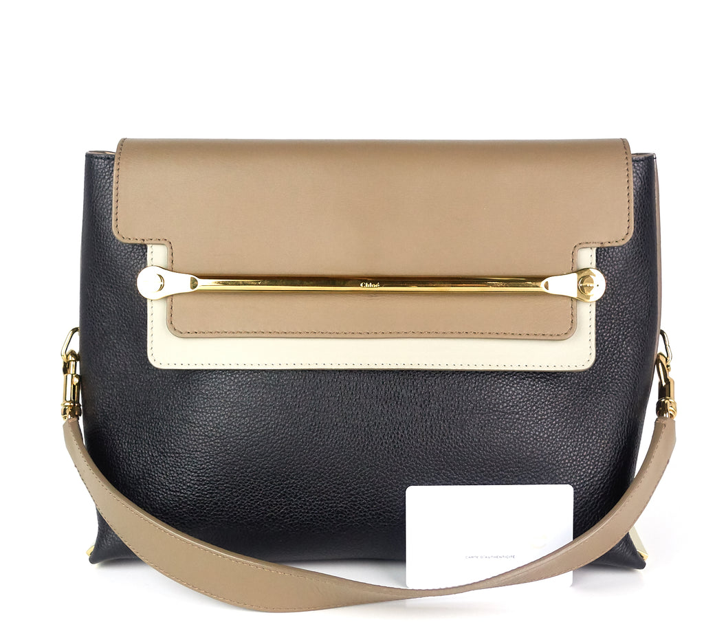 Clare Medium Tricolour Calf Leather Bag
