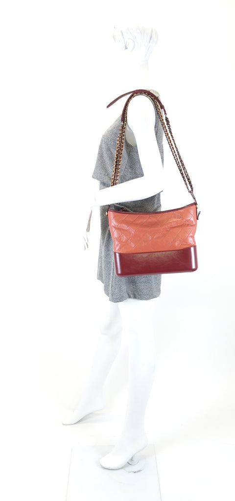 Gabrielle Aged Calf Leather Hobo Bag