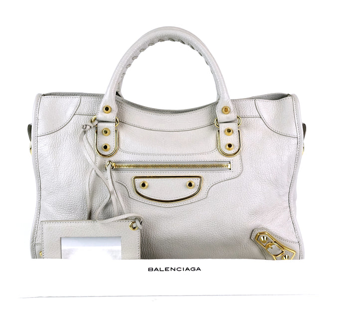 Classic City Metallic Edge Agneau Leather Bag