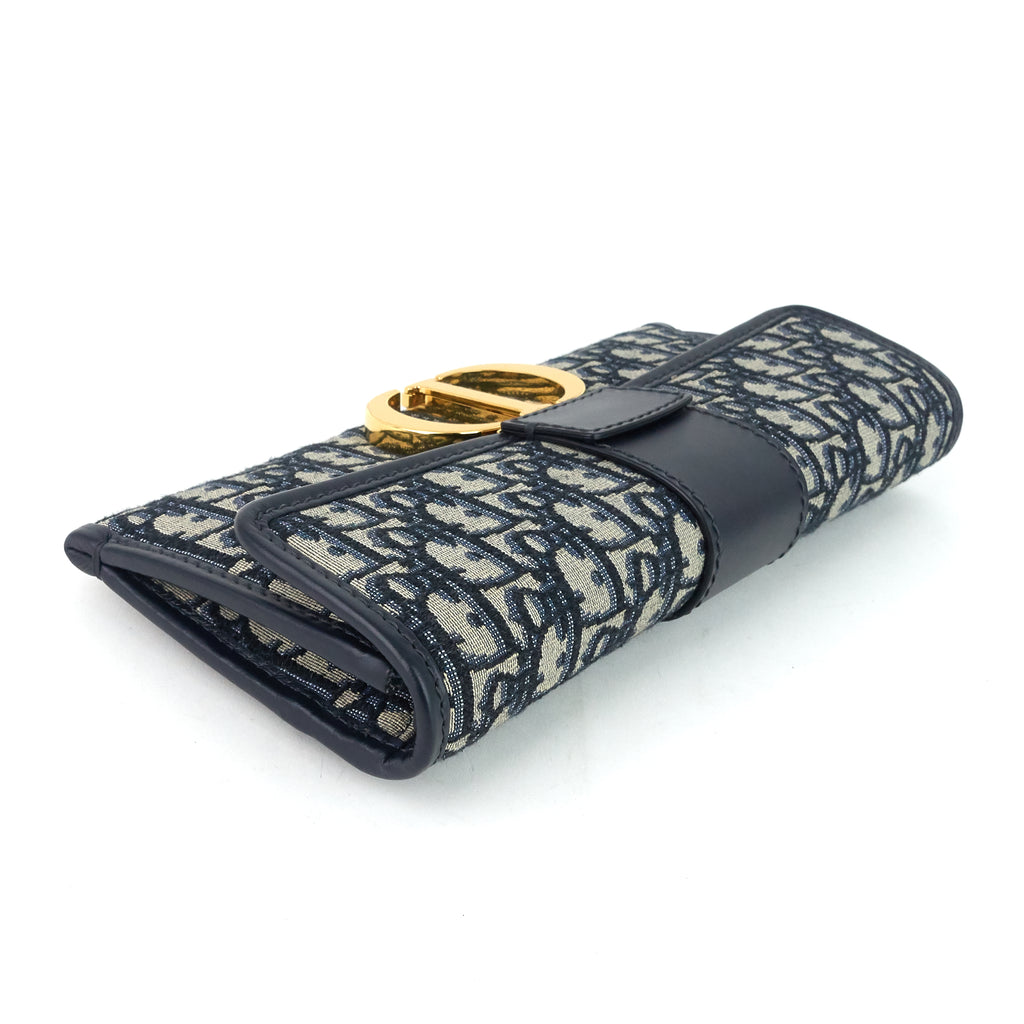 30 Montaigne Oblique Jacquard Canvas Pouch