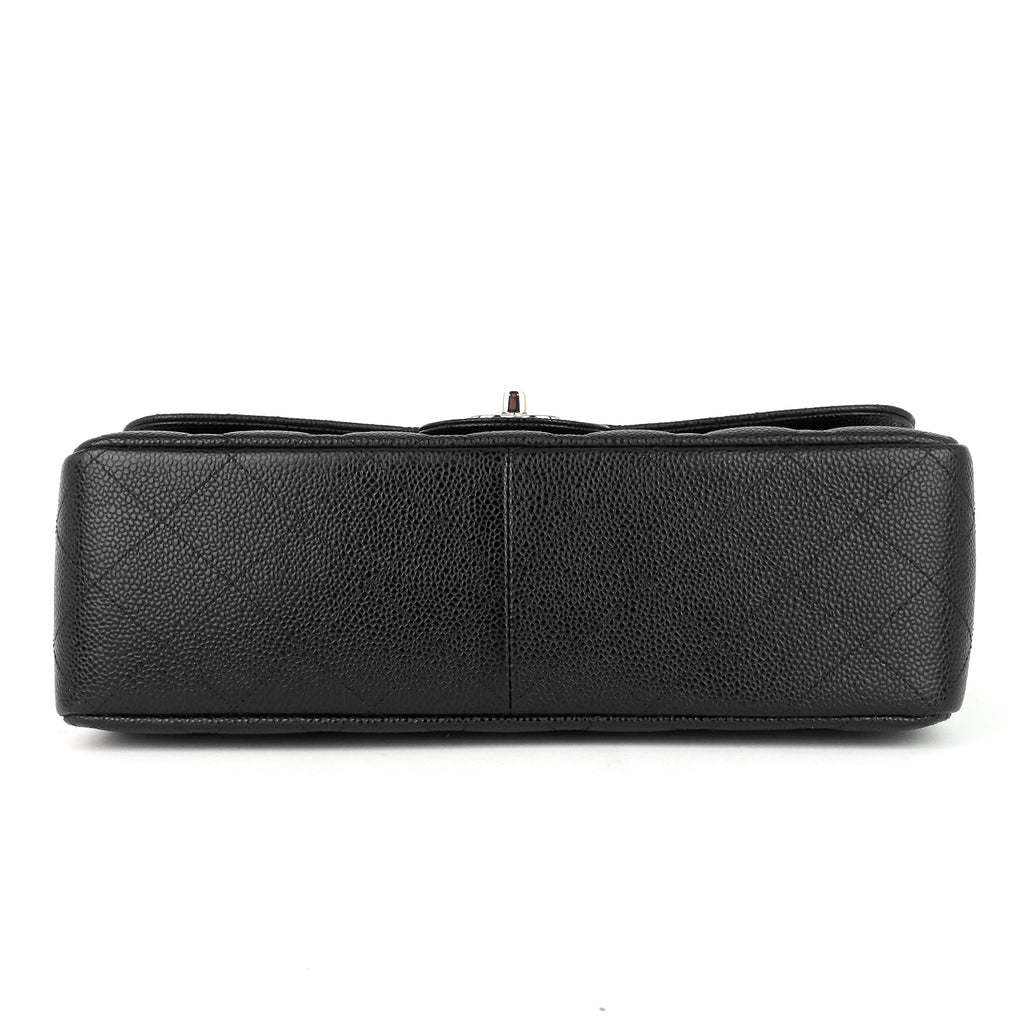 Classic Double Flap Jumbo Caviar Leather Bag