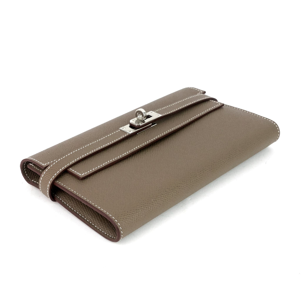 Kelly Large Epsom Leather Long Wallet