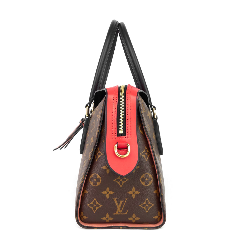 Tuileries Monogram Canvas and Tricolour Leather Handbag