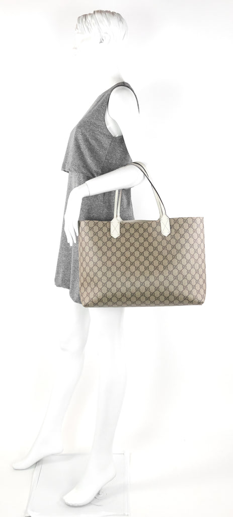 Reversible Medium GG Coated Canvas Tote Bag