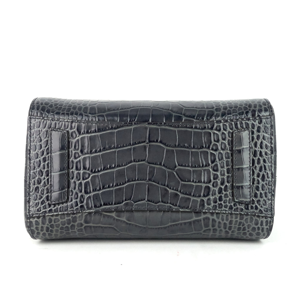 Antigona Mini Croc Embossed Leather Bag with Strap