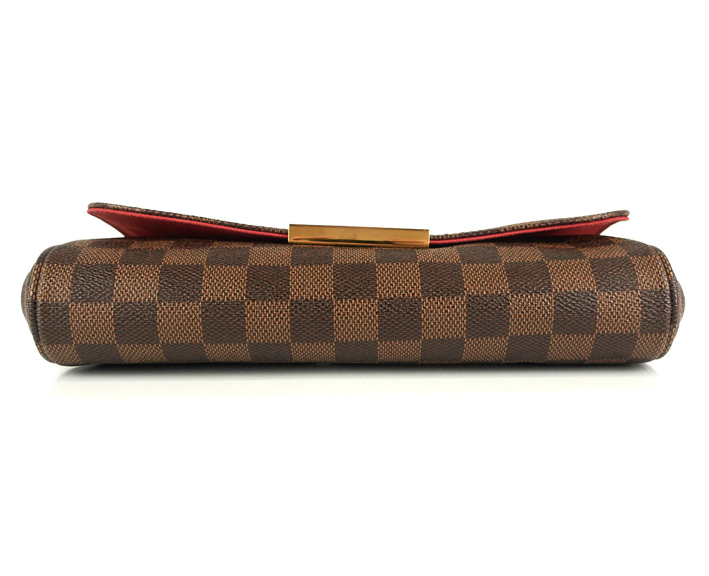 Favorite MM Damier Ebene Canvas Handbag with Strap