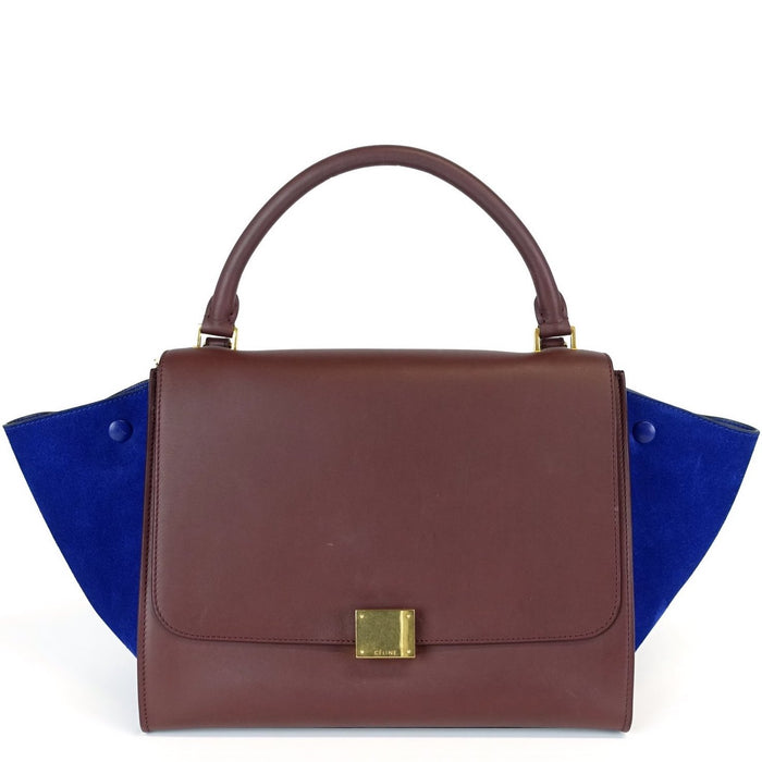 Trapeze Medium Calf Leather and Suede Bicolour Bag