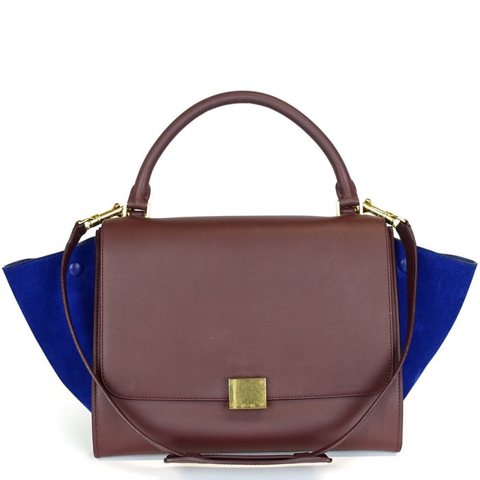 Trapeze Calf Leather and Suede Medium Bicolour Bag