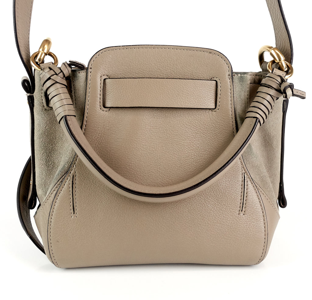 Owen Small Suede and Calf Leather Bag