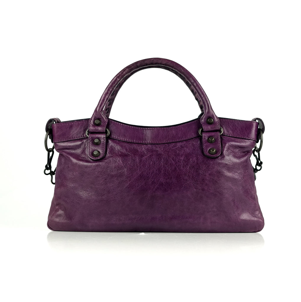 First Classic Studs Agneau Leather City Bag