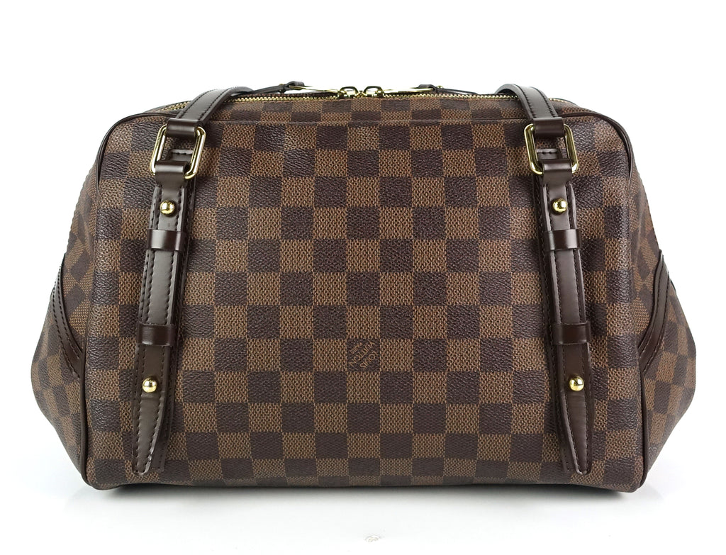 Rivington GM Damier Ebene Canvas Satchel Bag