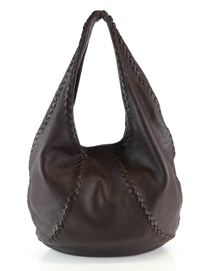 Mallow Cervo Leather Hobo Bag