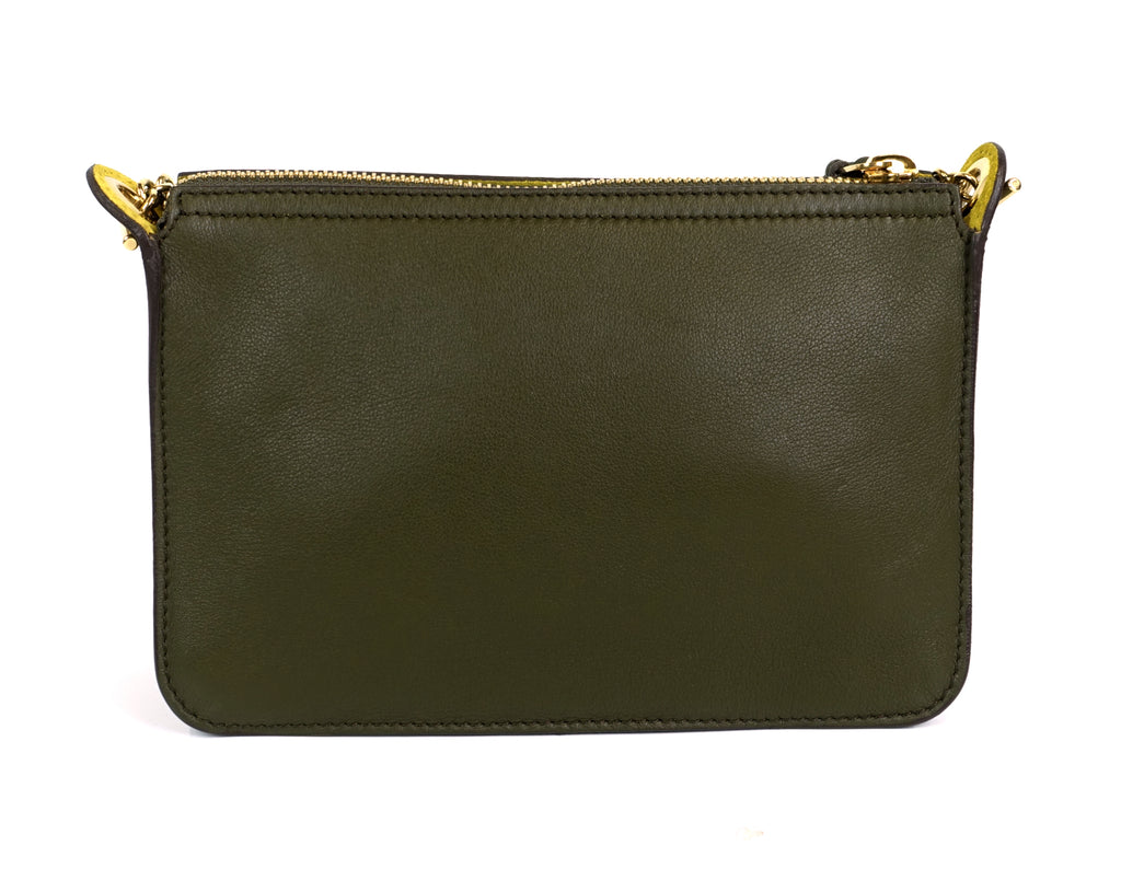 Clutch on Chain Envelope Flap Small Calf Leather Bag
