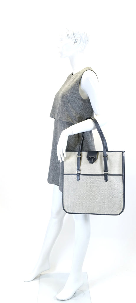 Jumping Chevron Canvas Tote Bag