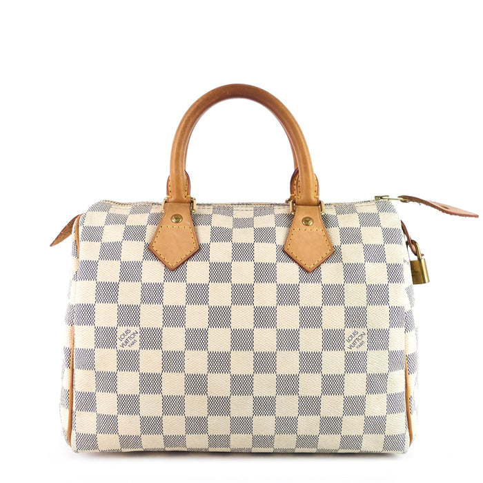 Speedy 25 Damier Azur Canvas Bag