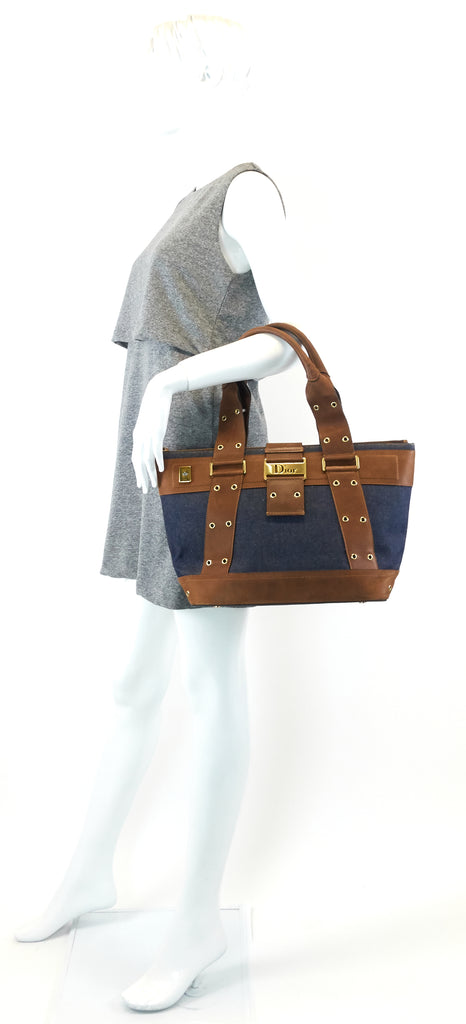 Street Chic Downtown Denim Tote Bag