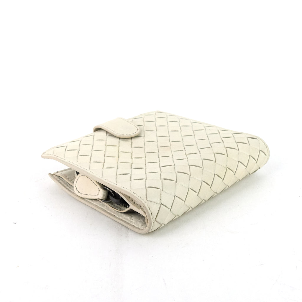 Intrecciato Nappa Leather French Flap Wallet