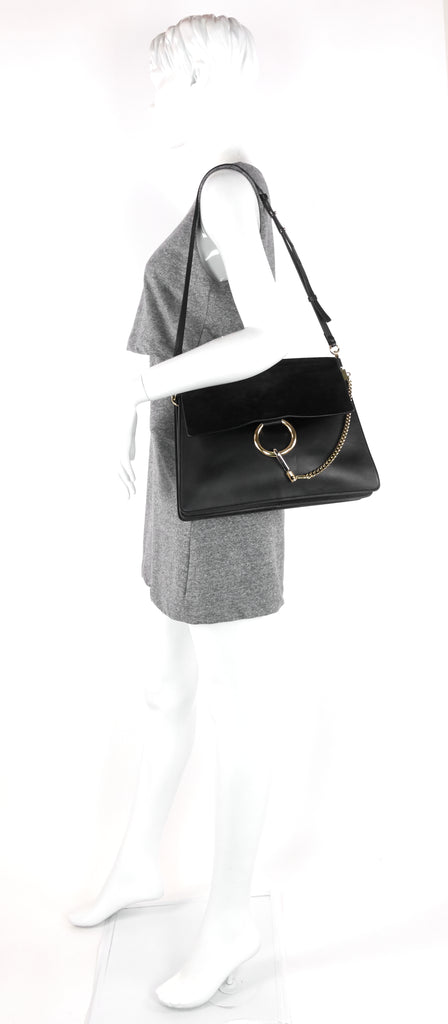 Faye Medium Suede and Leather Bag