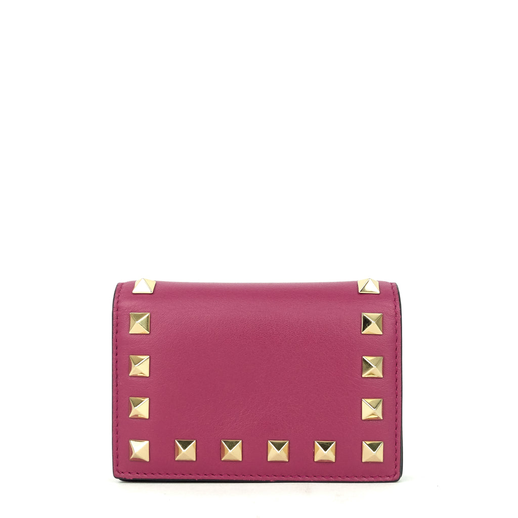 Rockstud French Flap Small Leather Wallet