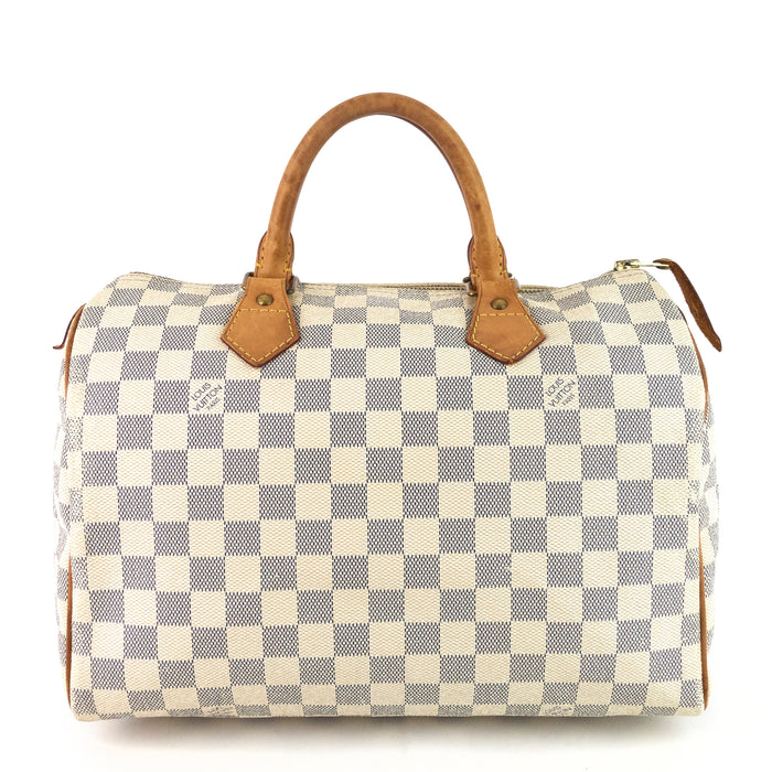 Speedy 30 Damier Azur Canvas Bag