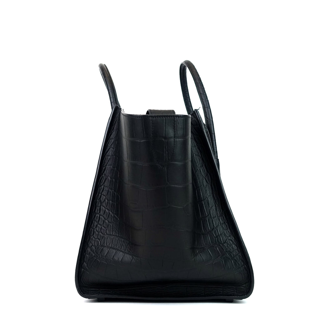 Phantom Crocodile Embossed Calf Leather Medium Bag