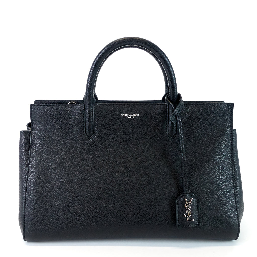 Rive Gauche Cabas Leather Small Bag