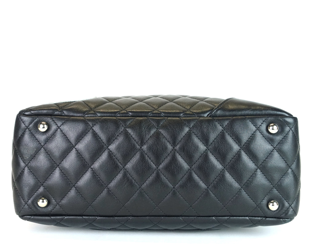 Cambon Bowler Medium Quilted Lambskin Leather Bag