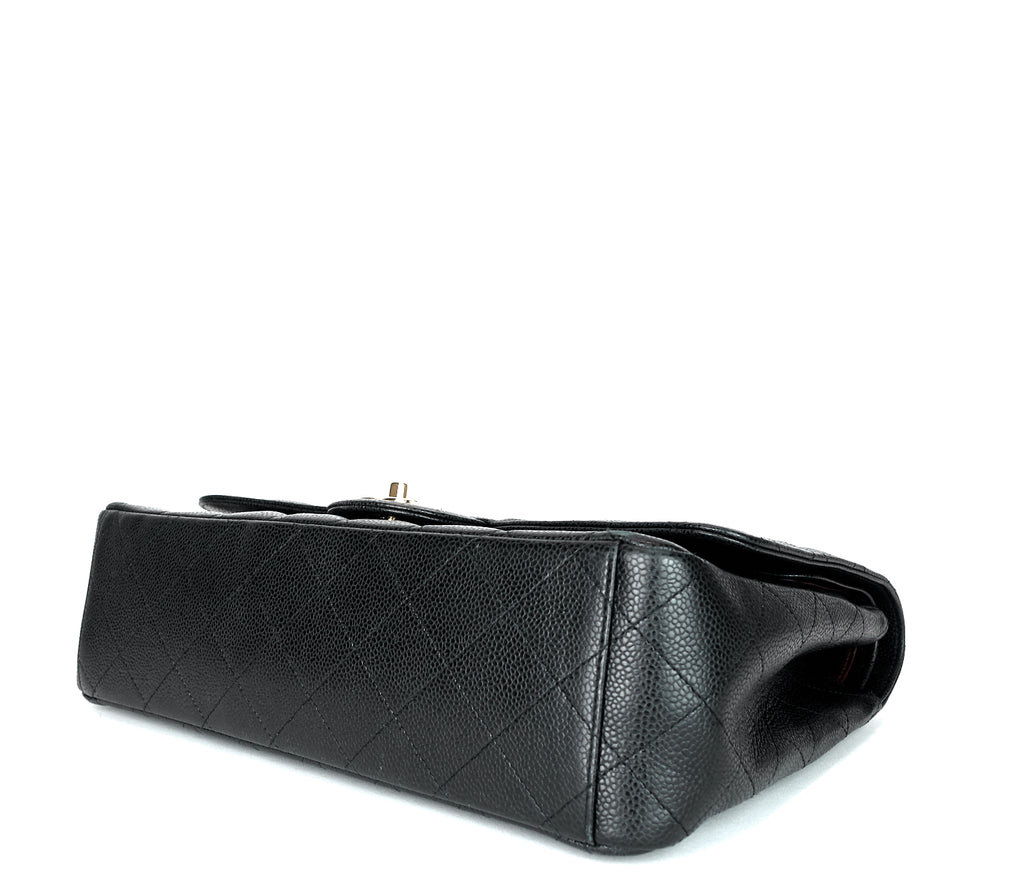 Classic Double Flap Caviar Leather Maxi Bag