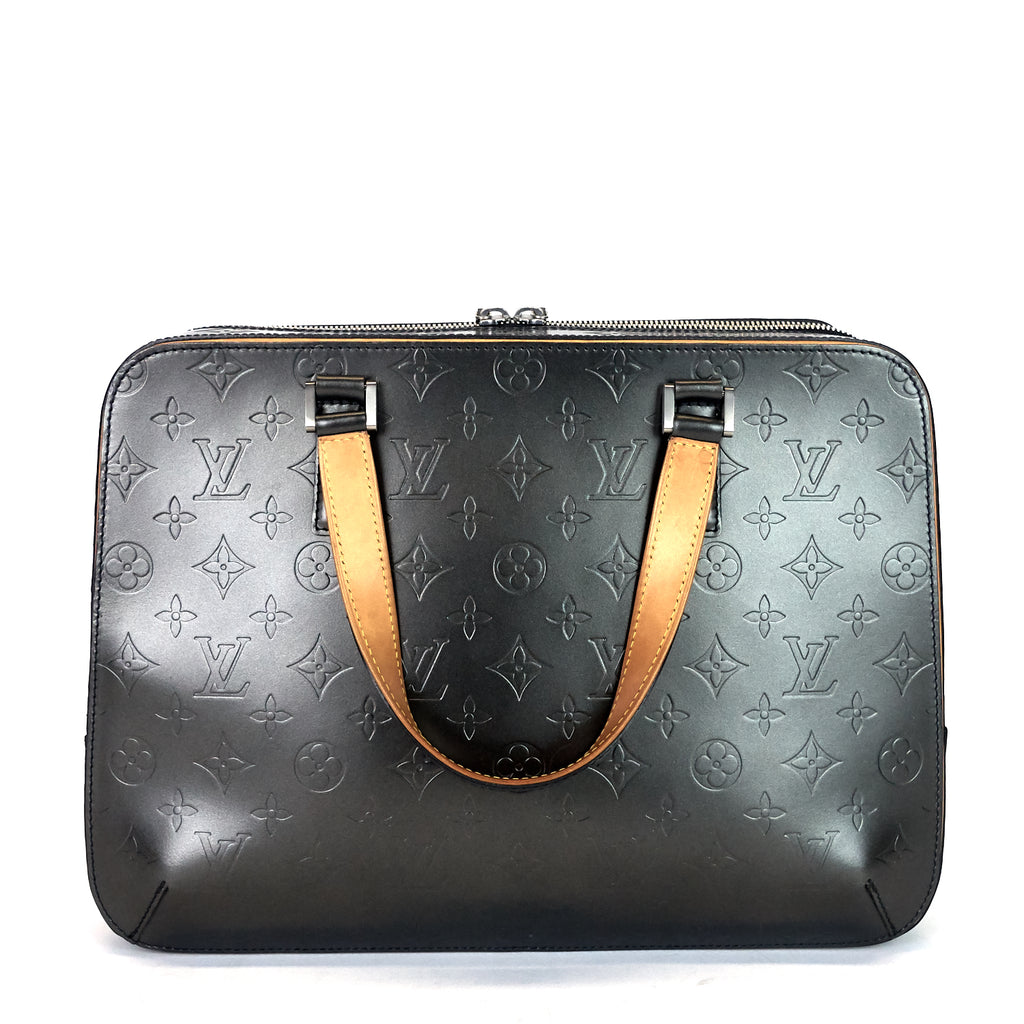 Malden Monogram Mat Vernis Leather Bag