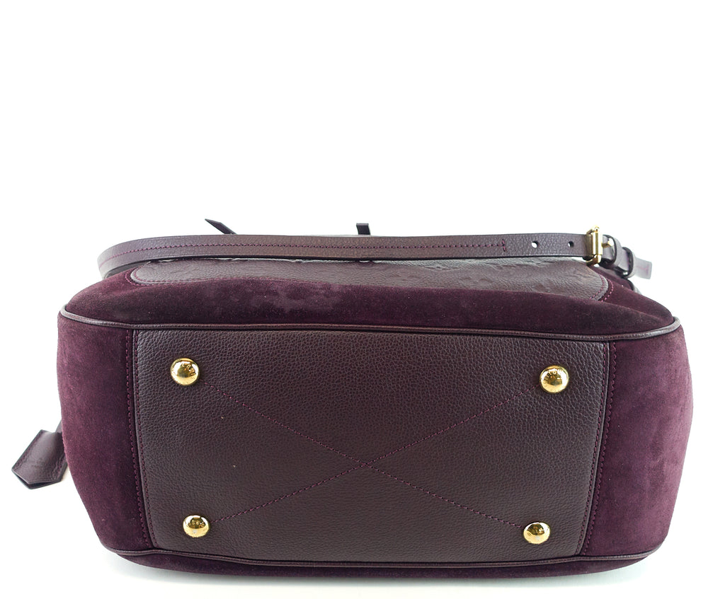 Audacieuse MM Monogram Empreinte Leather and Suede Bag