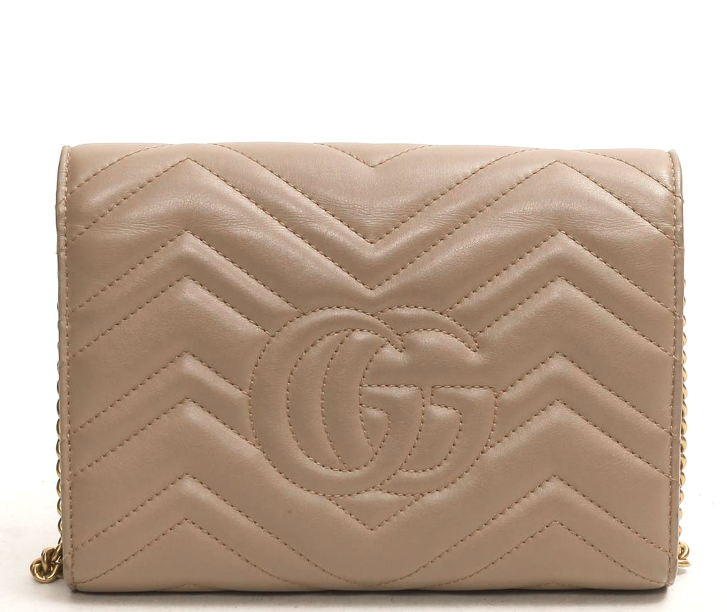 GG Marmont Matelasse Leather Wallet on a Chain Bag