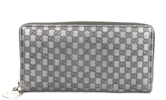 Zip Around Microguccissima Leather Wallet