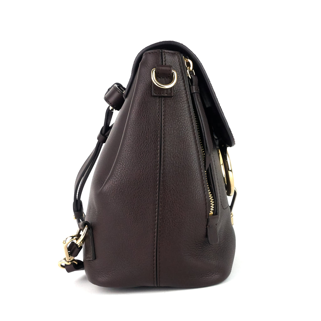 Faye Small Calf and Suede Backpack