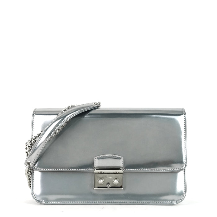 Miss Dior Promenade Large Patent Leather Wallet on Chain