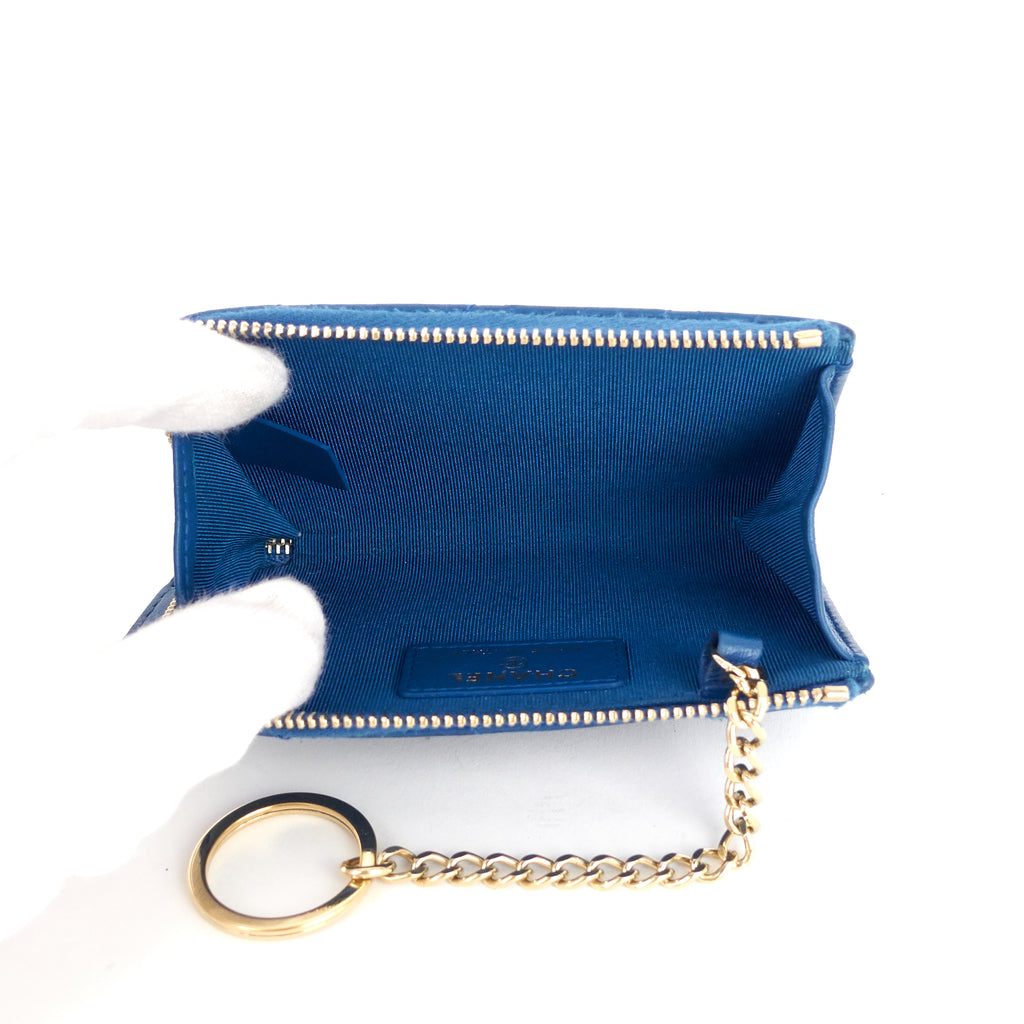 Lambskin Leather Key Holder Coin Pouch