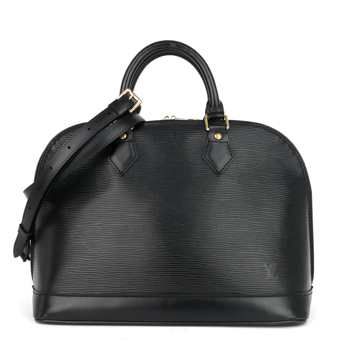 Alma Black Epi Leather Bag