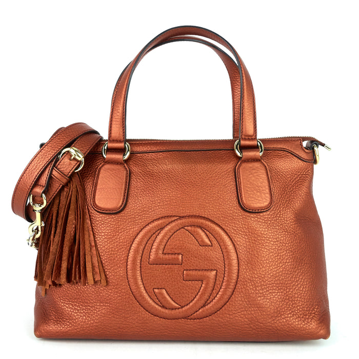 Soho Convertible Top Handle Small Leather Bag