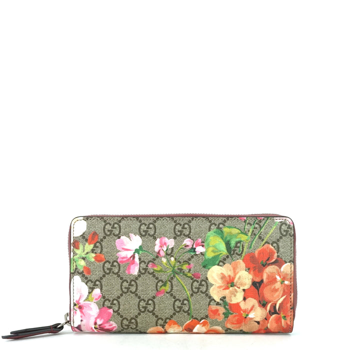 Blooms Supreme Canvas Zip Around Wallet