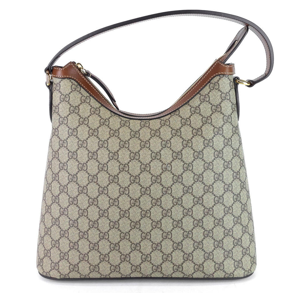 Linea A GG Supreme Canvas Hobo Bag