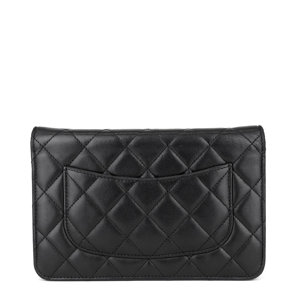 Wallet on Chain Lambskin Leather Bag
