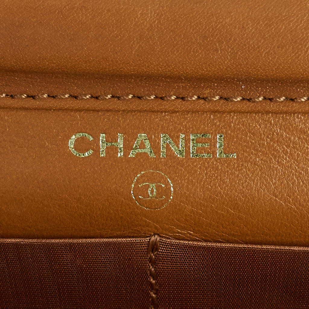 Wallet on Chain Leather Bag