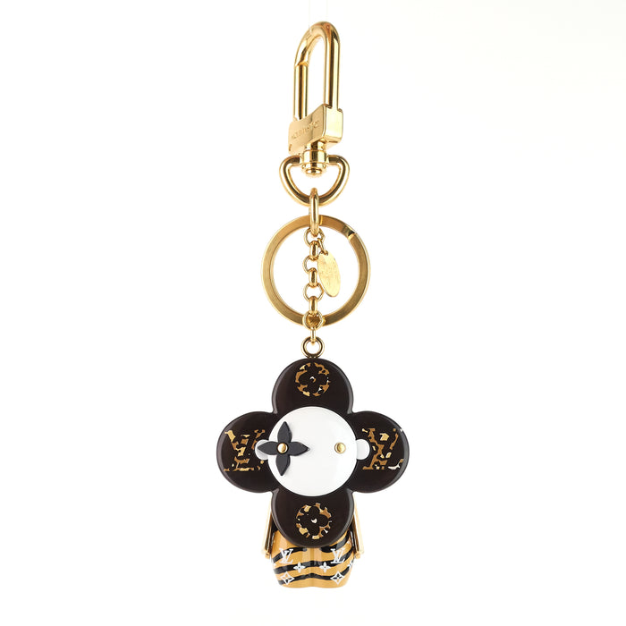 Vivienne Monogram Jungle/Animal Print Key Ring