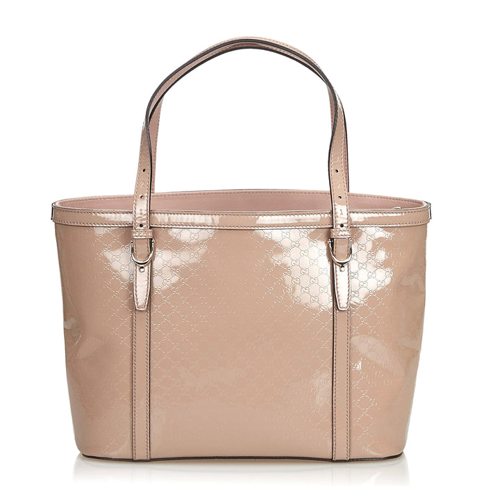 Nice Microguccissima Patent Leather Bag