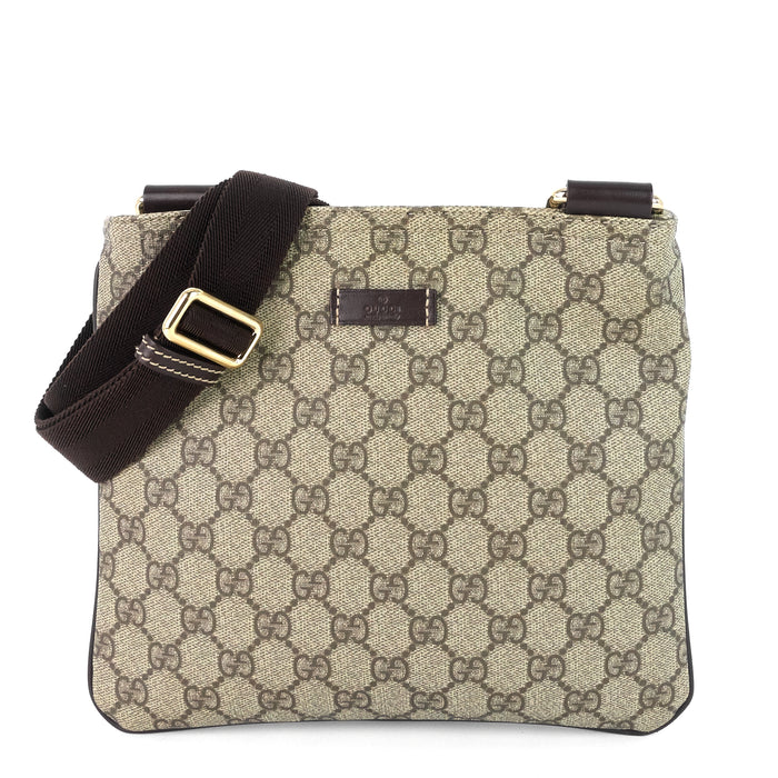Zip Top Supreme Monogram Canvas Small Messenger Bag