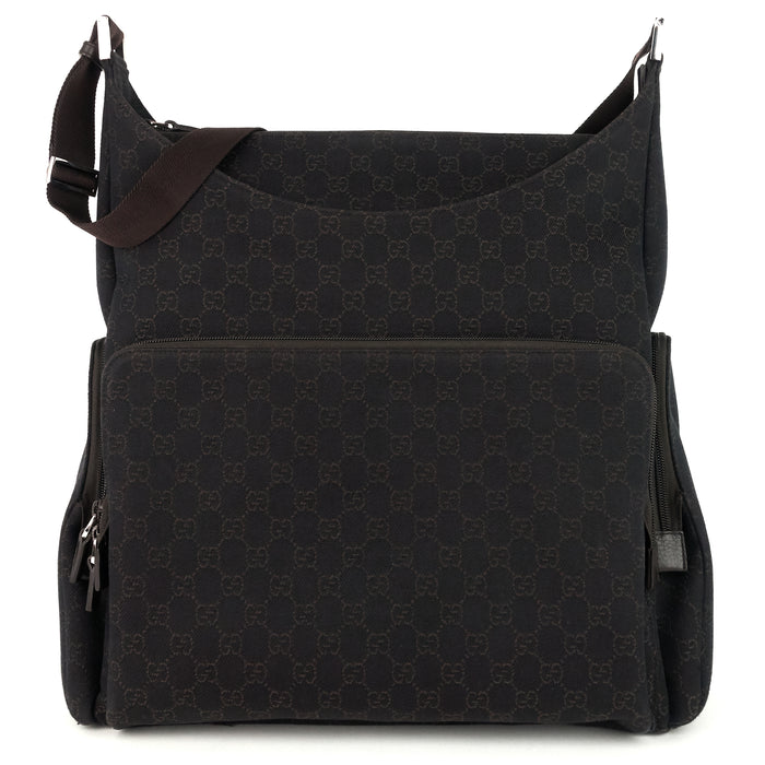 Zip Pockets XL Monogram Canvas Diaper Bag