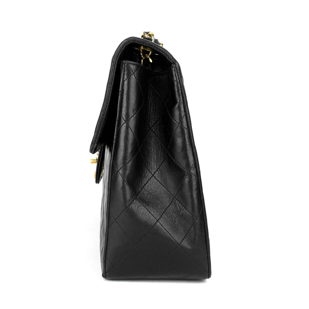 Classic Single Flap Maxi Lambskin Leather Bag