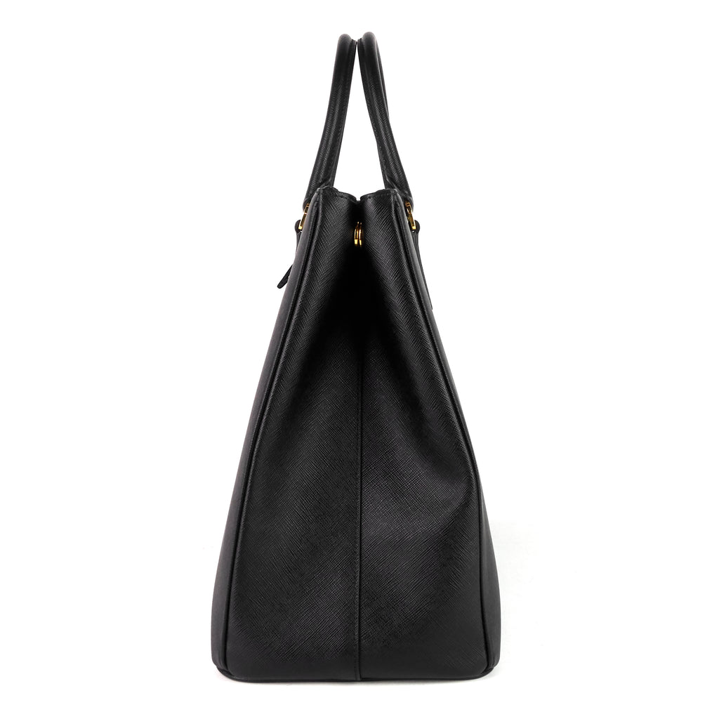 Galleria Double Zip Maxi Saffiano Leather Bag