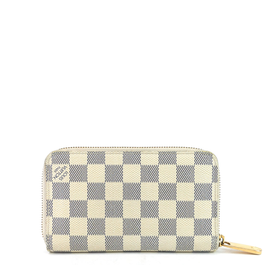 Zippy Compact Damier Azur Canvas Wallet
