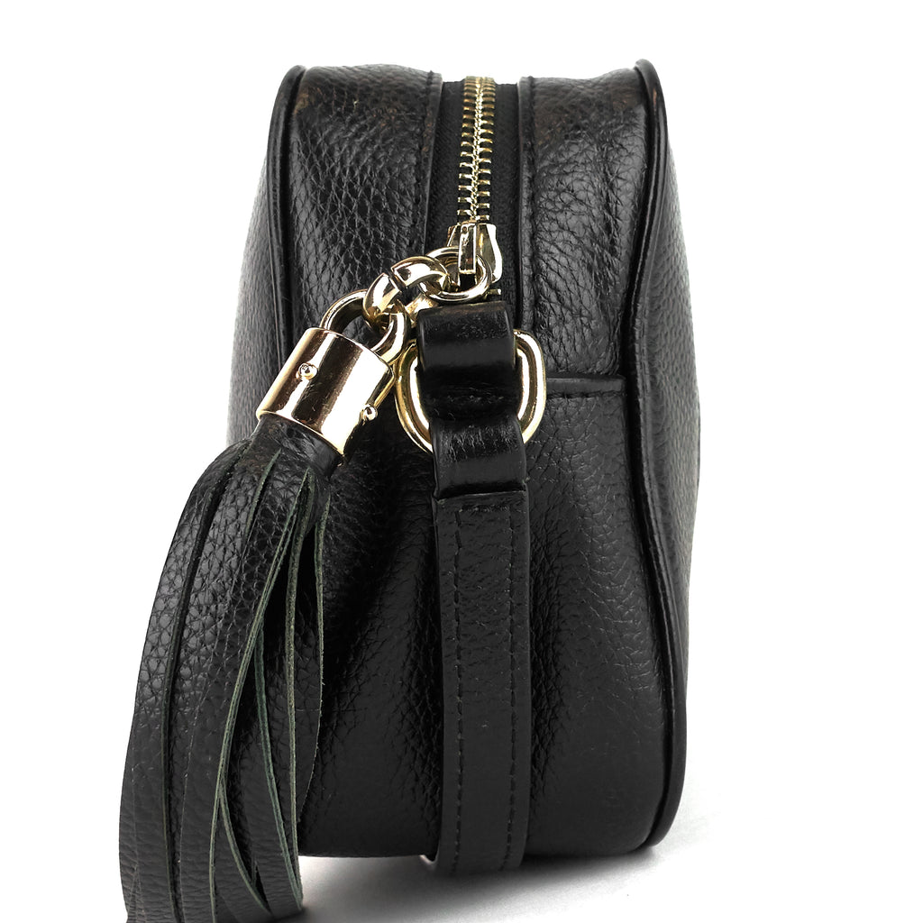 Soho Disco Small Calf Leather Crossbody Bag